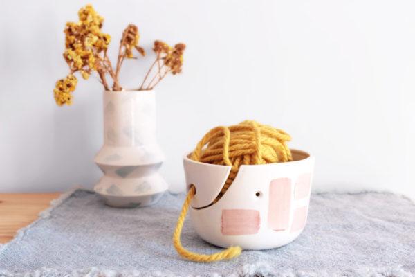 Bol lanero WOOL en cerámica artesanal