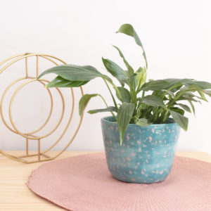 Macetero tache en cerámica artesanal