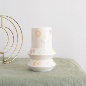 Jarrón GEO acuarela en cerámica artesanal