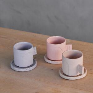 Tazas artesanales gres coloreado